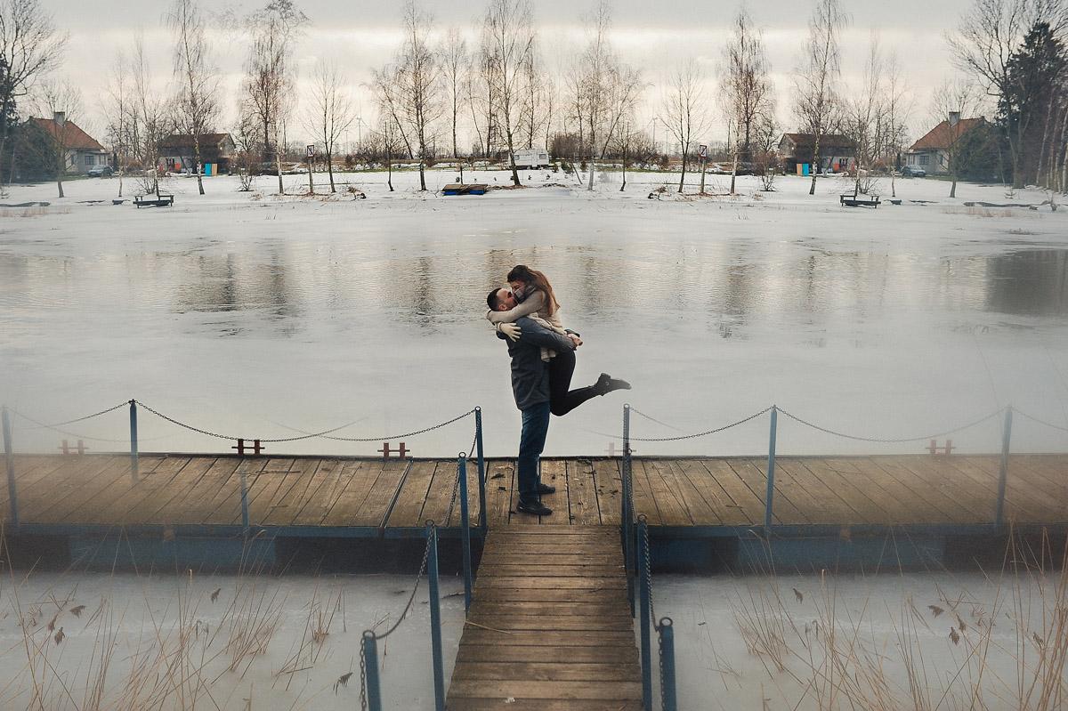 Monika Juraszek Fotografia: sesja narzeczeńska - para na molo