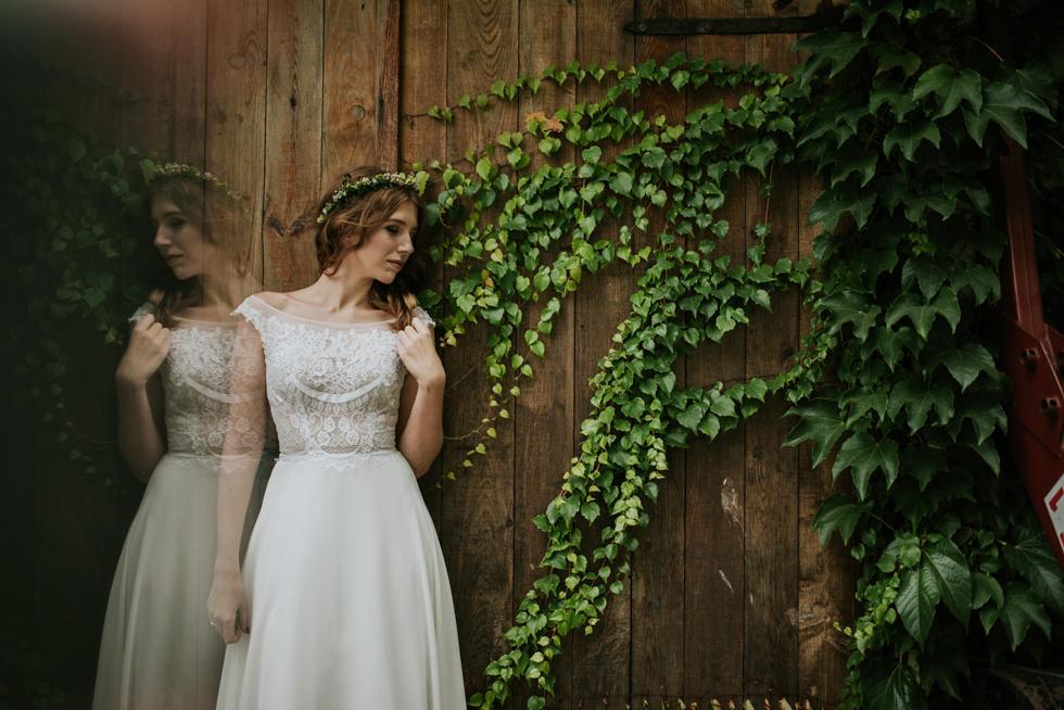 plener ślubny w ogrodzie