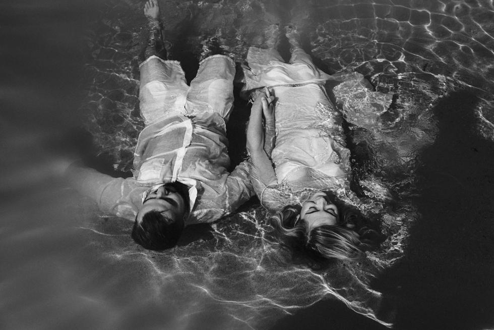 sesja plenerowa w wodzie