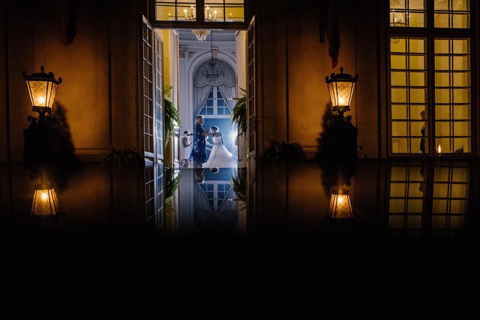 reportaż ślubny w pałacu